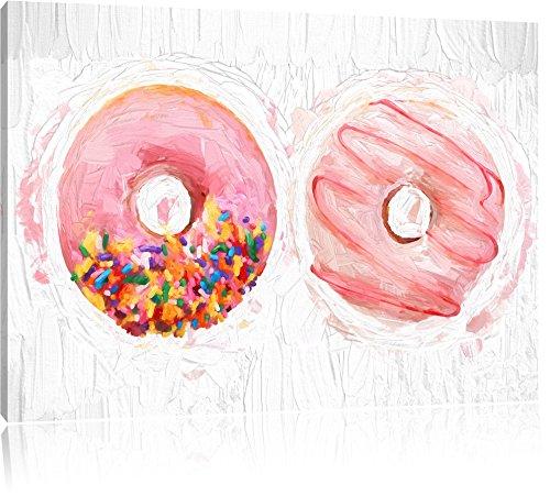 glazed-donuts-effet-de-brosse-format-120x80-sur-toile-xxl-enormes-photos-completement-encadree-avec-