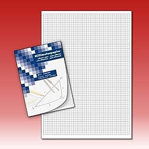 millimeterpapier zeichenblock technisches zeichnen 50 blatt din a4 b robedarf. Black Bedroom Furniture Sets. Home Design Ideas