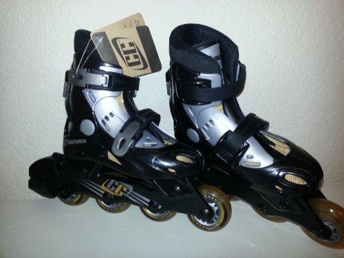 CC Crazy Creek T.07 jr Kinder Inliner Skates Schwarz Silber Gr: 31