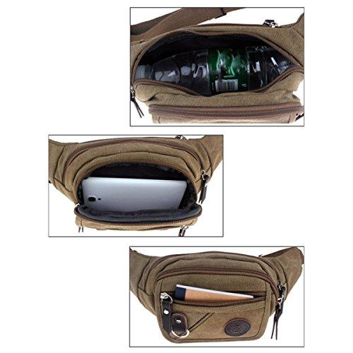 CHENGXIAOXUAN Canvas Geldbörsen Freizeit Multi Reißverschluss Taschen Geldbörsen Männer Und Frauen Kleine Brusttasche Geldbeutel Im Freien Freizeit Persönlichkeit Paket Black