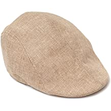 BEETEST Unisex hombres mujeres con textura de lino puro Color plana pico boina sombrero del casquillo Sombrero Golf Cap,Newsboy Cap,País tapa plana