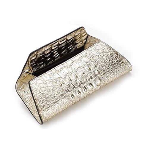 Europa E Stati Uniti Pelle Borse Modello Coccodrillo Frizione Signore Moda Borsa Da Sera Gold