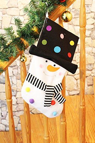 Calza/calza di natale/babbo natale calza stivali//calzino di natale/regali–calze da riempire–in stoffa, cucito a mano–un vero classico–avvento natale pupazzo di neve (xxl)