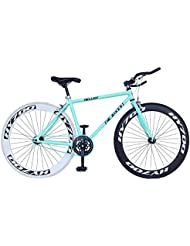 Helliot Bikes Fixie Brooklyn H41 - Bicicleta urbana, color azul / verde, talla única