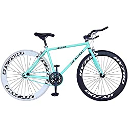 Helliot Bikes Fixie Brooklyn H41 Bicicleta Urbana, Unisex Adulto, Azul, Talla Única