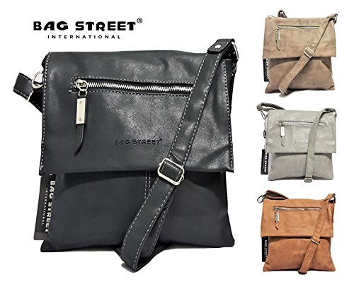 Bag Street , Sac pour femme à porter à l'épaule noir schwarz