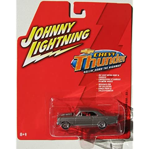 Johnny Lightning Chevy Thunder 1966 Chevy Nova SS Silver #27 by Unknown