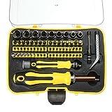 70 in 1 Destornilladores de Precisión Set, BinKe Kit de Destornillador de Acero Juego de Destornillador Magnético,Herramienta de Portátil Profesional Compacto con La Extensión del Eje para el Mantenimiento o La reparación precisa P7100
