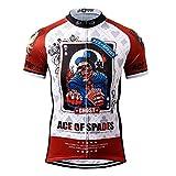 Thriller Rider Sports Uomo Ace of Spades Sport Maglia Manica Corta Ciclismo Magliette Abbigliamento Large