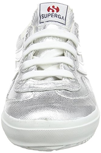 Superga 2832 Cotmetw, Baskets Basses Mixte Adulte Argent - Silber (031)