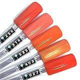 Color Gel 5er Set (je 5ml): Happy Tomatoes - Gel Orange, Gel rotorange