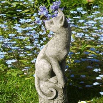 Jardin Rêve chat égyptien Figurine Curius raphia – phee Perts Gris patiné