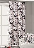 140x245 cm schwarz grau stahl rot Vorhang Vorhänge Marilyn Monroe Ösenschal Fensterdekoration Gardine Blickdicht black grey steely rot Pop Art Marilyn3