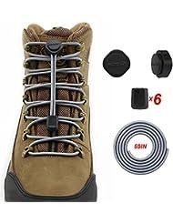 2 Pares HOMAR Cordones de zapatos elástico para zapatos de trabajo botas zapatos para correr