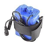 haosshop Akku Pack Schutzhülle 8,4V 6x 18650Wasserdicht House Cover für Fahrrad Lampe, blau