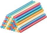 AGT Heisskleber: 50 Klebesticks für Heißklebepistolen, 11 x 200 mm, bunt (Allzweck-Klebesticks)