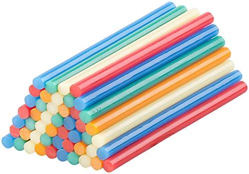 AGT Heißklebesticks: 50 Klebesticks für Heißklebepistolen, 11 x 200 mm, bunt (Klebestick für Klebepistole)