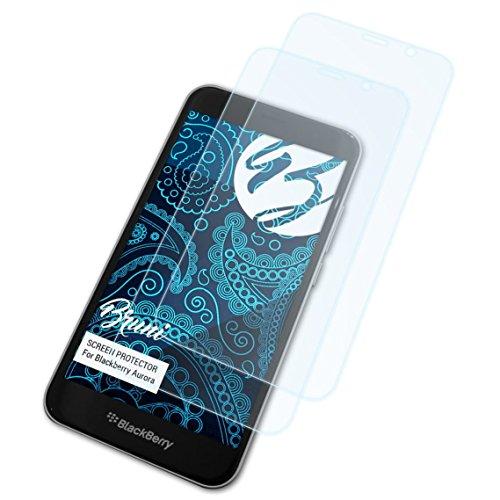 Bruni Schutzfolie für BlackBerry Aurora Folie, glasklare Bildschirmschutzfolie (2X)