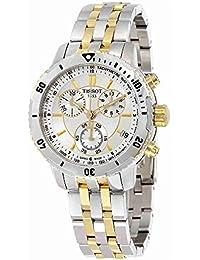 Tissot T0674172203100 - Reloj cronógrafo de caballero de cuarzo con correa de acero inoxidable multicolor
