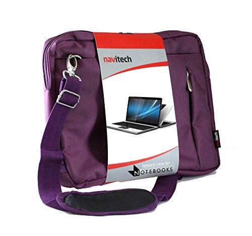 Navitech Lila premium Wasser wiederständige Shock sichere Ultrabook / Laptop / Tablet trage Tasche / Case speziell für das ASUS N551JQ 15.6