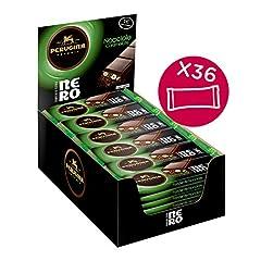 Idea Regalo - Perugina Nero Fondente Extra Nocciole Barretta di Cioccolato con Nocciole in Pezzi - 36 Barrette da 35 g