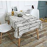 LouiseEvel215 Grain en Bois Motif Creative Table Nappe De Coton Lin Nappe Personnalité Table à Manger Couverture pour Cuisine Décor À La Maison
