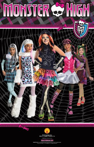 Image of Rubie's Official Clawdeen Wolf Monsters High Fancy Dress - Large