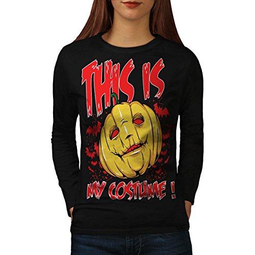 Halloween Kostüm Horror Damen M Langarm-T-Shirt | (Komische Kostüme Halloween Frauen)
