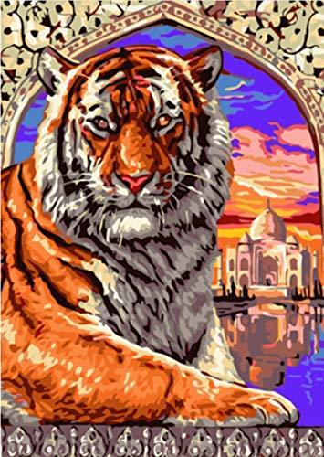 GVNEO Malen Nach Zahlen Abstrakte Tier König Der Gnade DIY Färbung Öl Kits Zeichnung Farbe Auf Leinwand Für Wandkunst Bild(40X50Cm Rahmenlos) -
