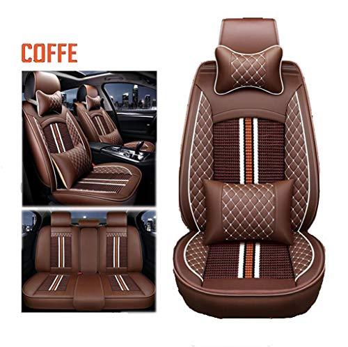 Cuscini per sedili Auto Coprisedili Ice Silk/Similpelle Affari Universali Motori Generali compatibili con Renault,Marrone,KADJAR