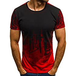 Homme T-Shirt Manches Courtes Col Rond Casual Simple Chemisier Basic Spécial Impression Tops Tees pour Sports Travail M - 3XL