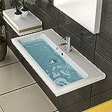 Keramik-Waschbecken mit Überlauf / weiß