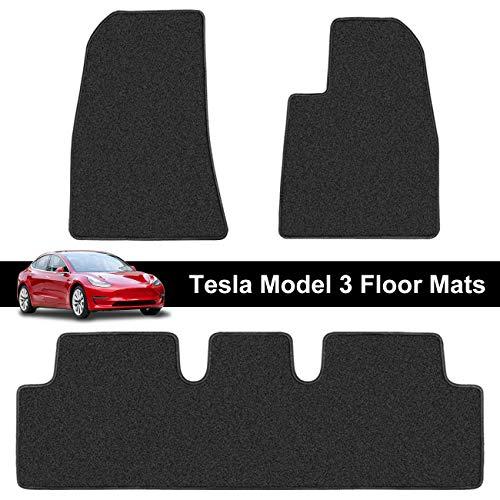 Printers Jack Tesla Model 3 Floor Mats Right Hand Drive (RHD) All Weather Backing Custom Fit Heavy Duty All Season Eco Friendly Accessories 2019 2020