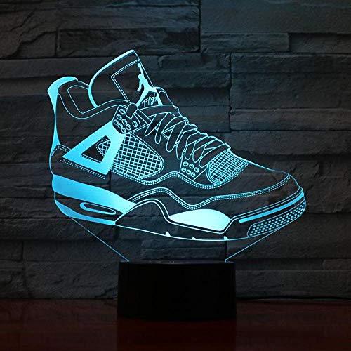 Hombres Jordan Zapatos Luz de noche de baloncesto Led Ilusión 3D Sensor...