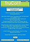 100x Premium selbstklebend Highglossy DIN A4 Fotopapier Klebepapier hochglänzend wasserfest 120g /m² vollflächig klebend bis 19200 DPI lichtecht