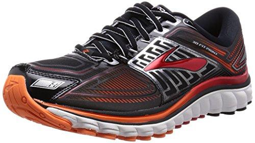 Brooks Glycerin 13 Scarpe da corsa, Uomo, Multicolore (Black/High Risk Red/Silver), 46