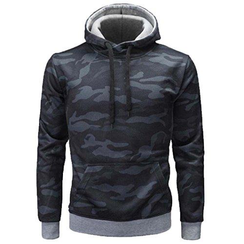 Sweatshirt à Capuche Tops Blouse Homme Automne Hiver Camouflage à Manches Longues Malloom