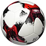 adidas Erwachsene European Qualifier Omb Fußball, White/Solar Red/Black, 5