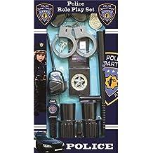 Dress Up America Equipo de rol de suplente de oficial de policía para niños