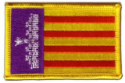 Aufnäher Patch Flagge Spanien Mallorca - 8 x 6 cm