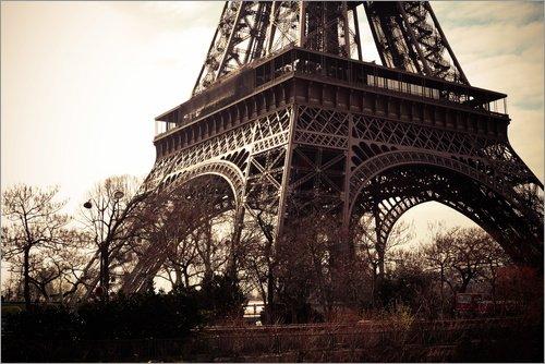 Posterlounge Forex-Platte 180 x 120 cm: der Fuß des Eiffelturms von Editors Choice