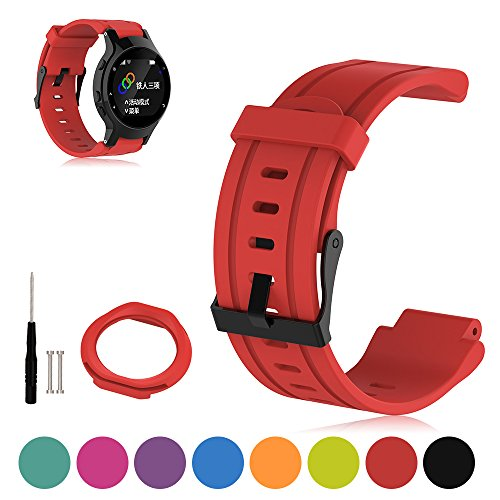 for-garmin-forerunner-225-gps-running-watch-replacement-band-ifeeker-adjustable-soft-silicone-replac