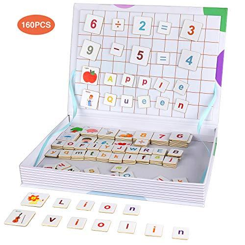 Anpro 160PCS Letras Números Magneticas Niños, Juguetes
