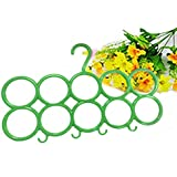 Berry Multifunction Unbreakable Plastic Scarf 10 Loop Plastic Scarf Holder Hanger (Green) (Set of 1)