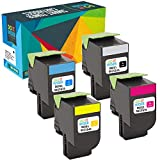 Do it Wiser Cartouches de Toner XL Compatibles pour Lexmark CX310n CX410e CX510de CX410de CX410dte CX510dew CX510dhe CX510dthe CX310dn CX310dnw - 80C0S10 80C0S20 80C0S30 80C0S40 (Pack de 4)