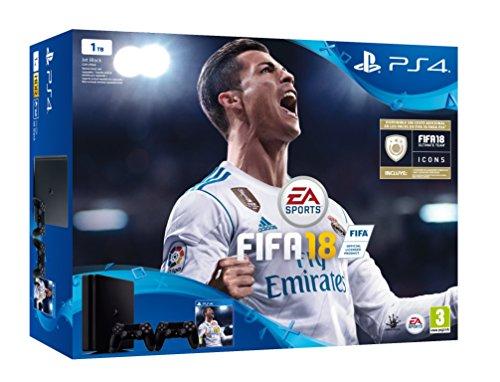 PlayStation 4 (PS4) - Consola de 1 TB, 2 Mandos Dualshock4 + Fifa18