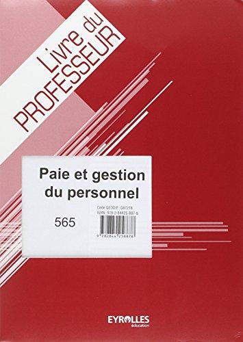 Paie et Gestion du Personnel Prof par Moreau Christop