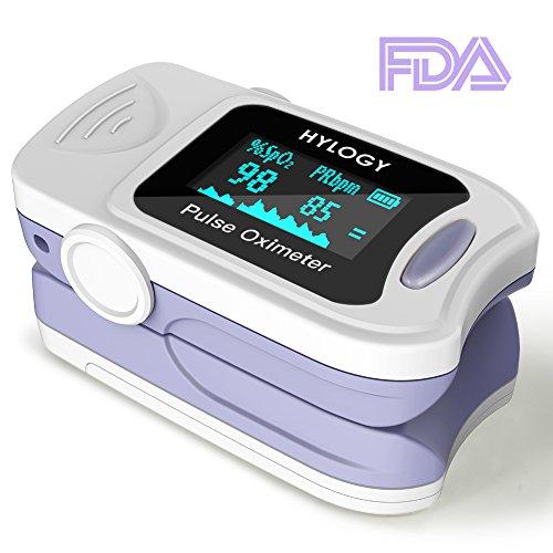 Hylogy Pulsoximeter Fingeroximeter Digitaler Bildschirm OLED Messen Sauerstoffgehalt im Blut SpO2 und Pulsfrequenz Betrieb mit einem Knopf einfach zu bedienen