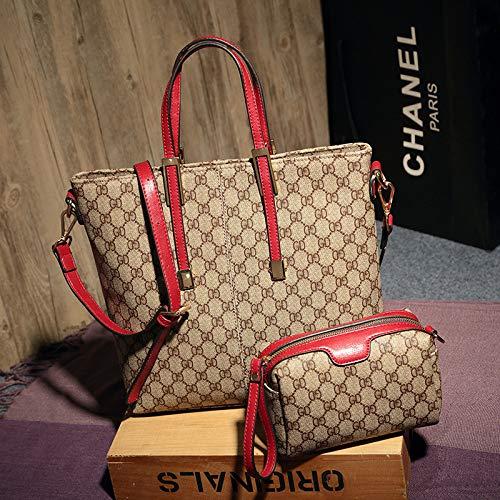 LFGCL Taschen womenPrinted Handtasche Großraum-Muttertasche Wild Shoulder Bag, rot