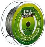 Free Fisher 8-Fach geflochtene Angelschnur 0,55-0,7mm Tragkraft bis 68kg extra stark (Grau, 300m Spule;0.55mm)